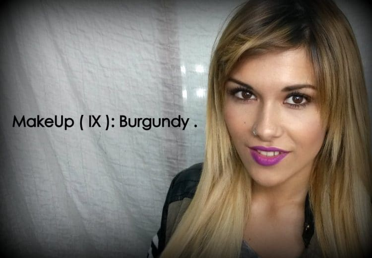 Makeup (IX): Burgundy